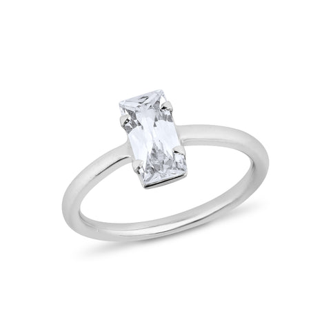 Baguettes Diamond Ring - Silver