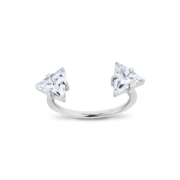 2 Triangle Ring - Silver