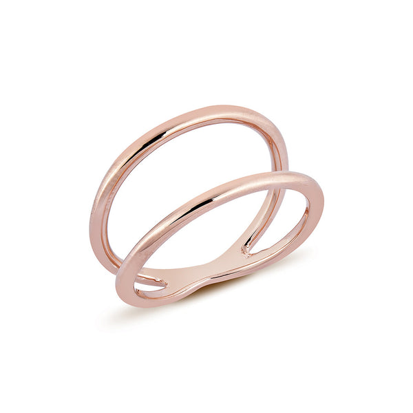 Double Line Ring - Pinkgold
