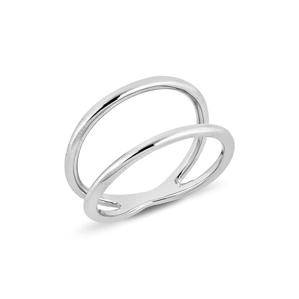 Double Line Ring - Silver