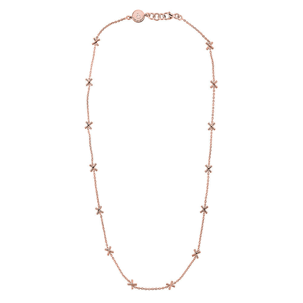 X Necklace - Pinkgold