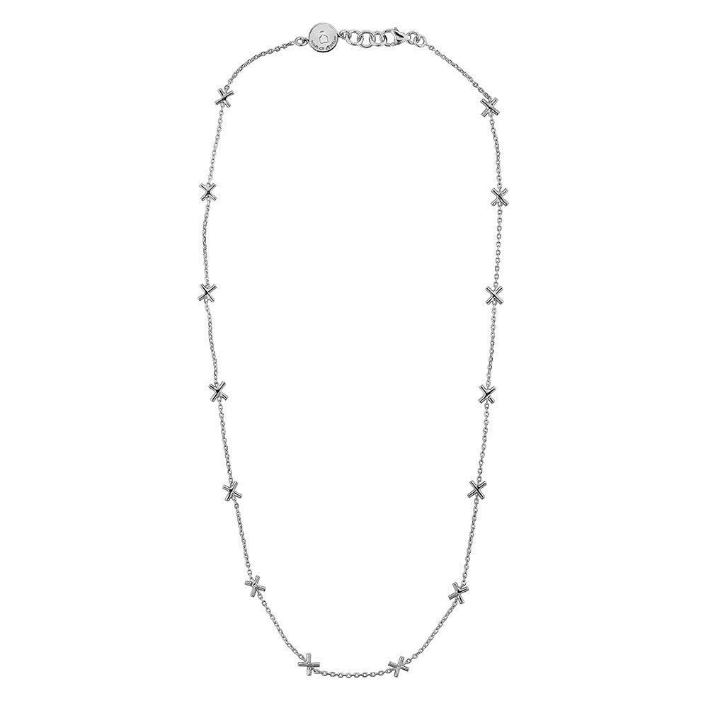 X Necklace - Silver