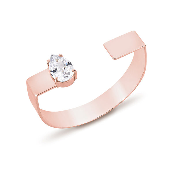 Pear Diamond U Bangle - Pinkgold