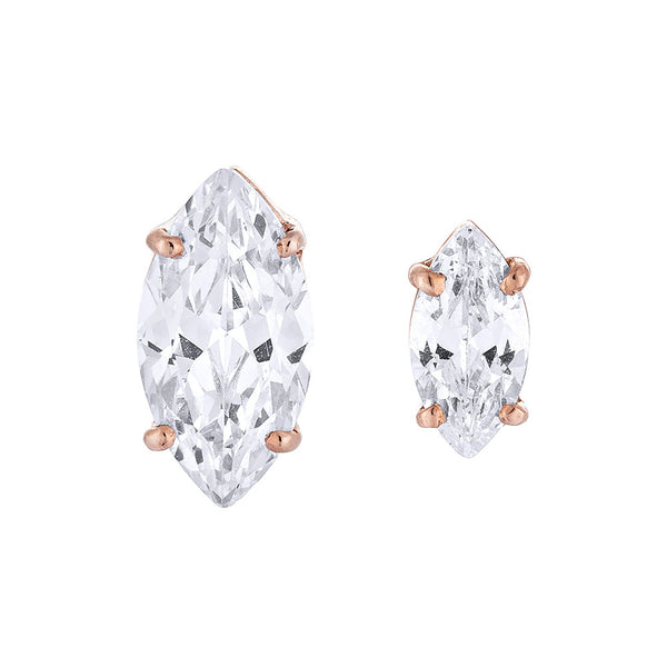 Marquise Diamond Earring - Pinkgold