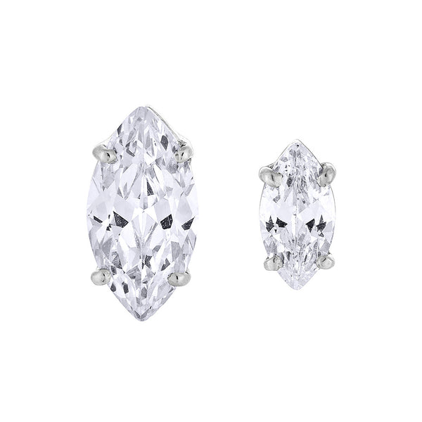 Marquise Diamond Earring - Silver