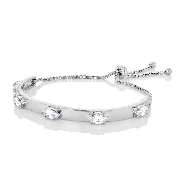 Acacia Marquise Bracelet - Silver