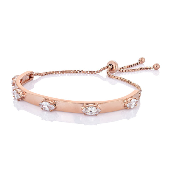 Acacia Marquise Bracelet - Pinkgold