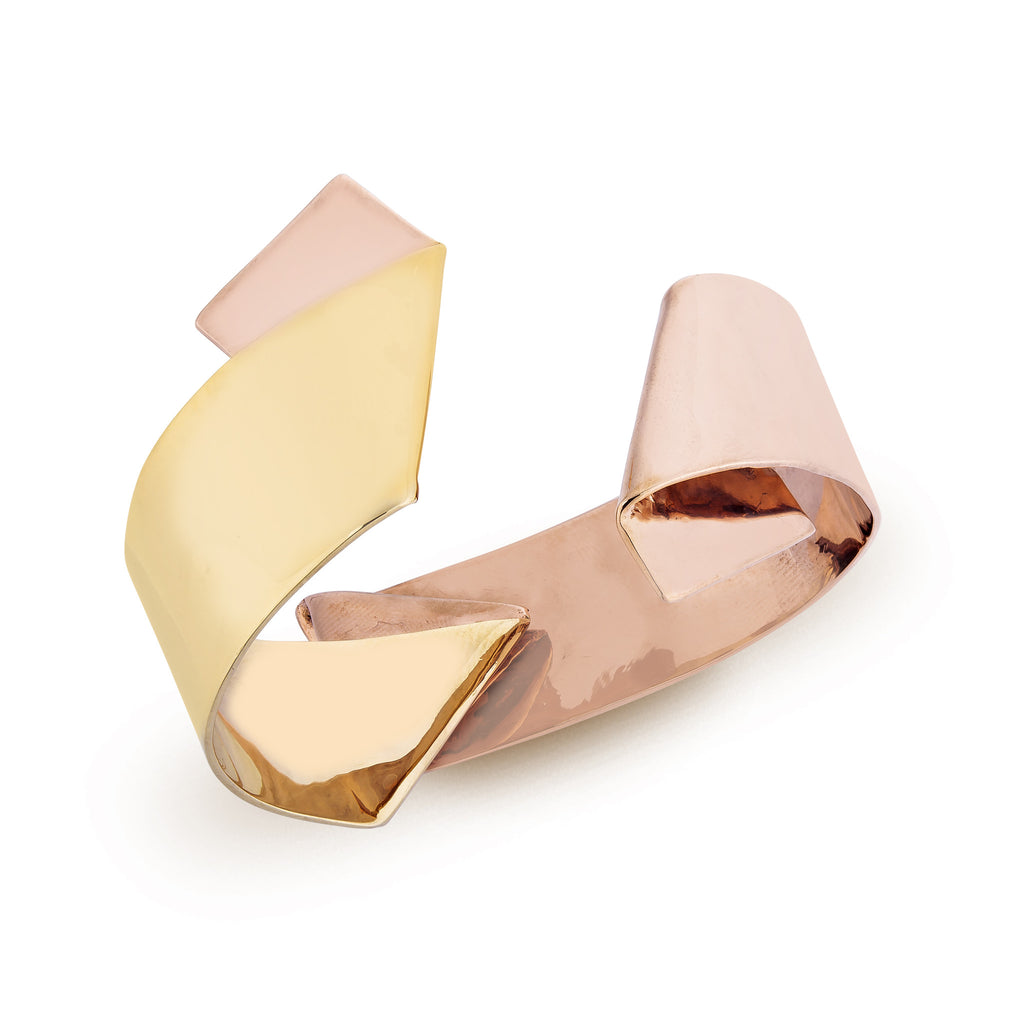Irada 06 Ribbon Bangle - Gold