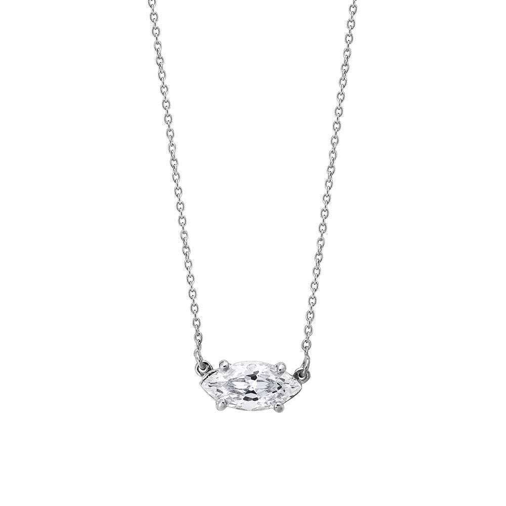 Marquise Diamond Necklace - Silver