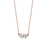 Marquise Diamond Necklace - Pinkgold