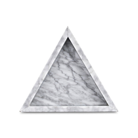 Triangle Tray - White Carrara