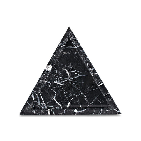 Triangle Tray - Black Marquina