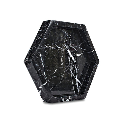 Pentagon Tray - Black Marquina