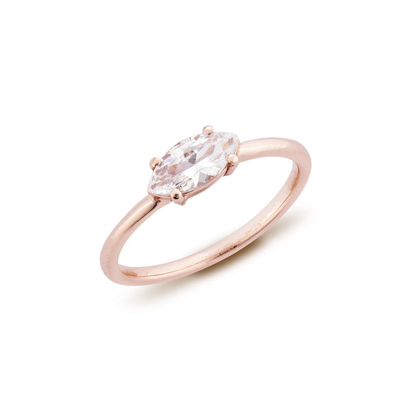 Marquise Diamond Ring - Pinkgold