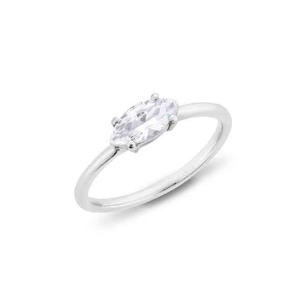 Marquise Diamond Ring - Silver