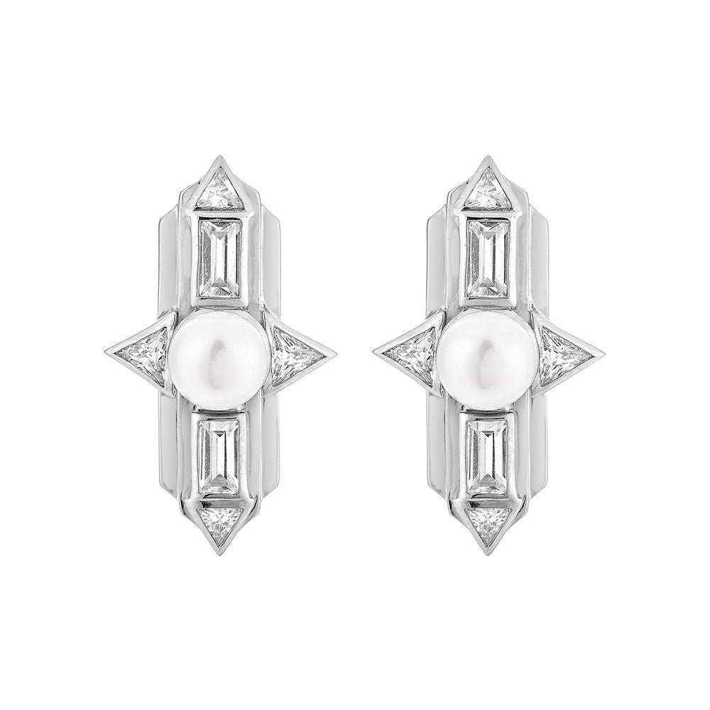 Babylon Earrings - Silver
