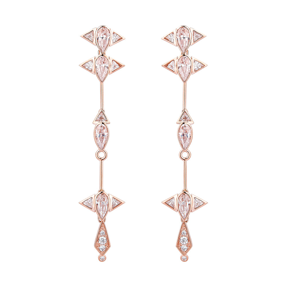 ASE WANG in Arun Long Earrings - Pinkgold