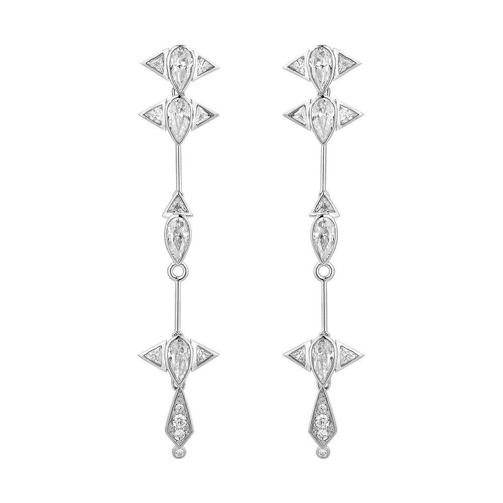 Arun Long Earring - Silver