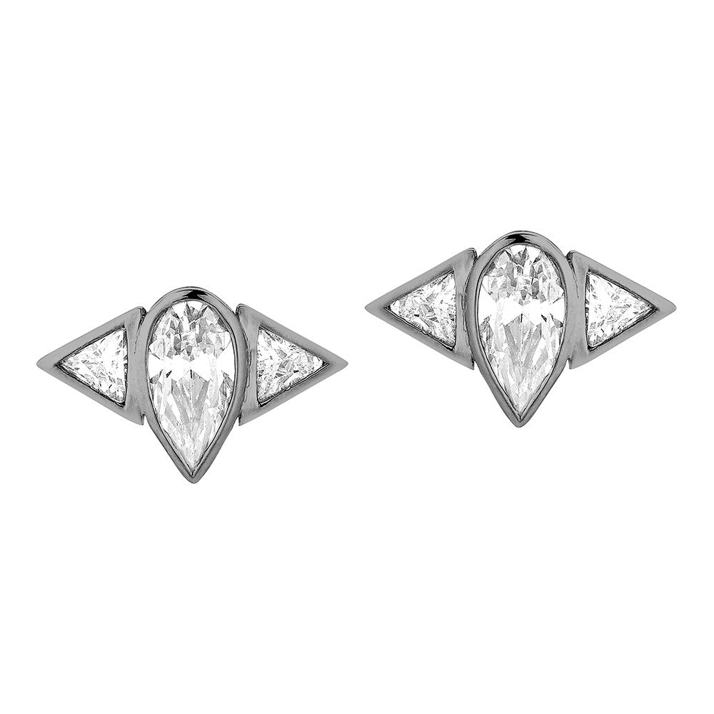 Arun Stud Earring - Black