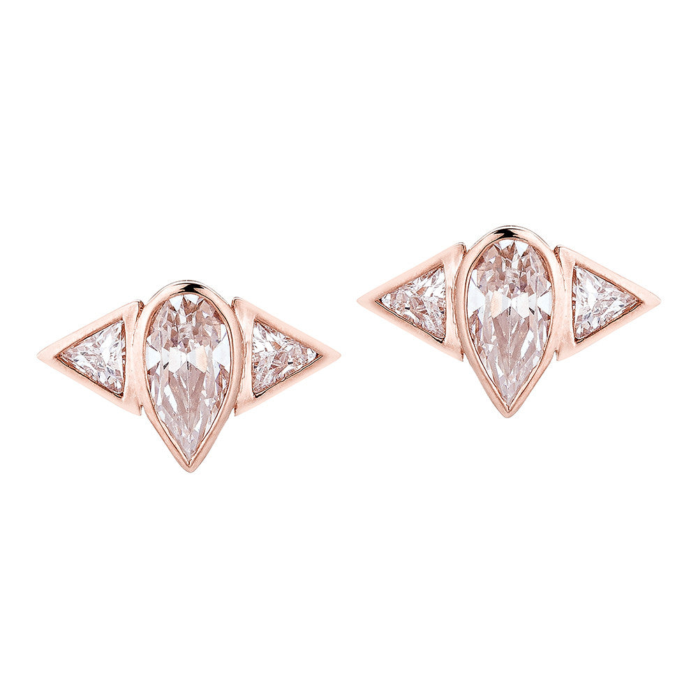 Arun Stud Earrings - Pinkgold