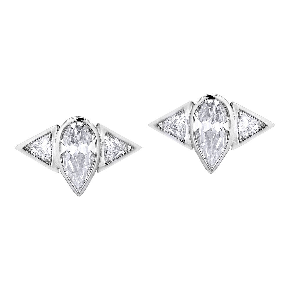 Arun Stud Earrings - Silver
