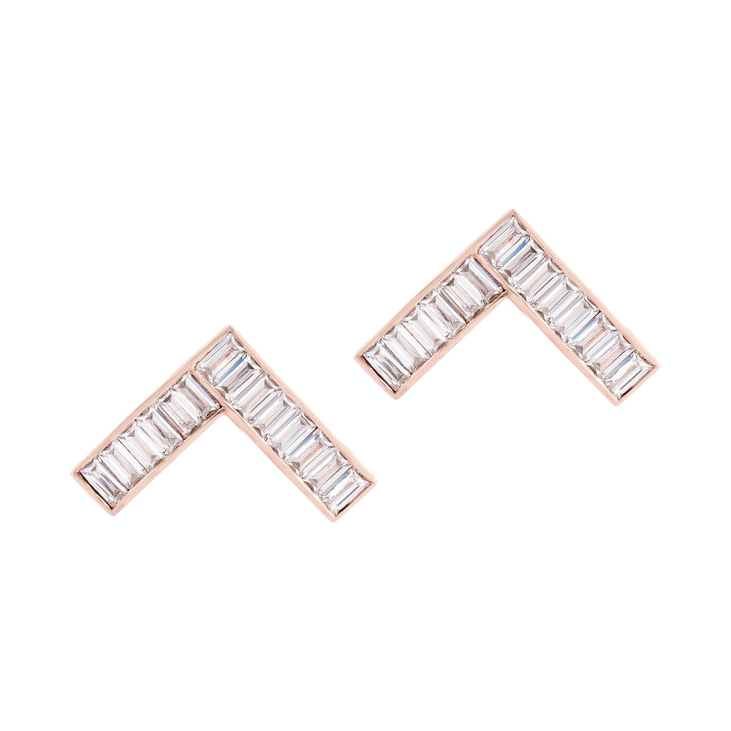 Caret Earrings - Pinkgold