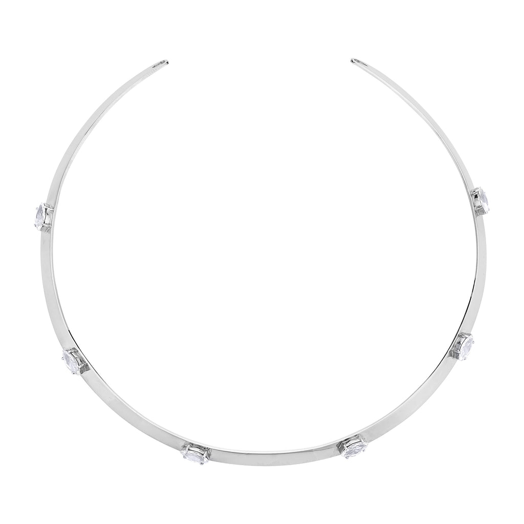 Acacia Marquise Necklace - Silver
