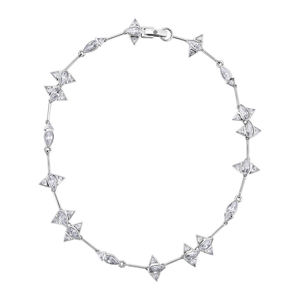Arun Choker Necklace - Silver