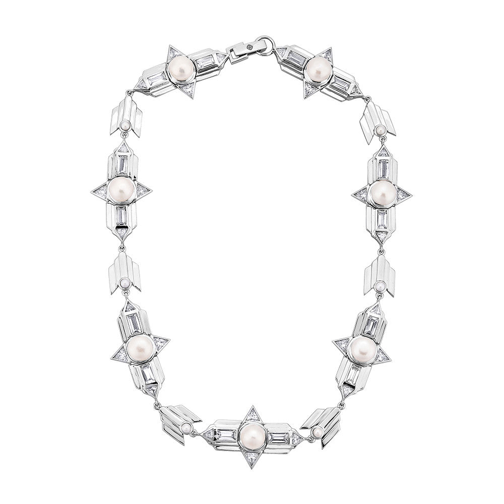 Babylon Choker Necklace - Silver