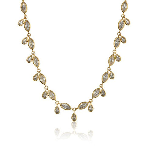 COSMIC TEARDROP CHOKER - GOLD