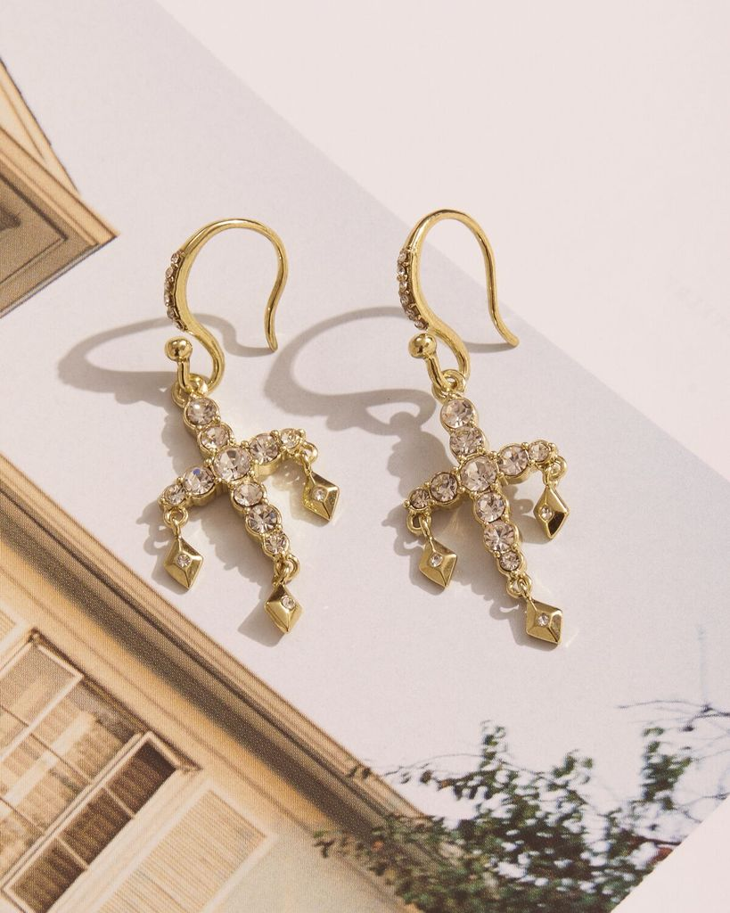 DIAMONTE HOOK EARRINGS – GOLD