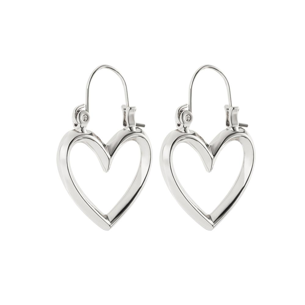 MINI HEARTBREAKER HOOPS - SILVER