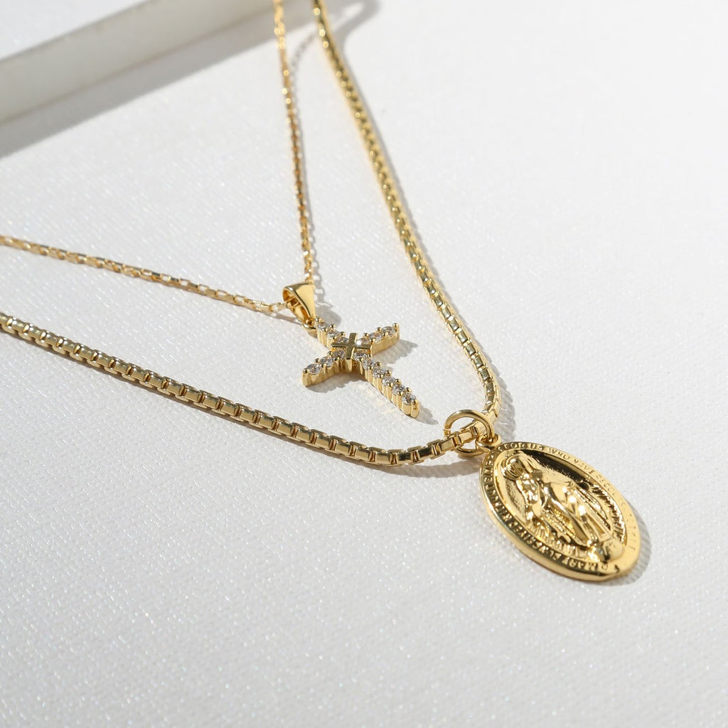 THE MADONNA NECKLACE - GOLD