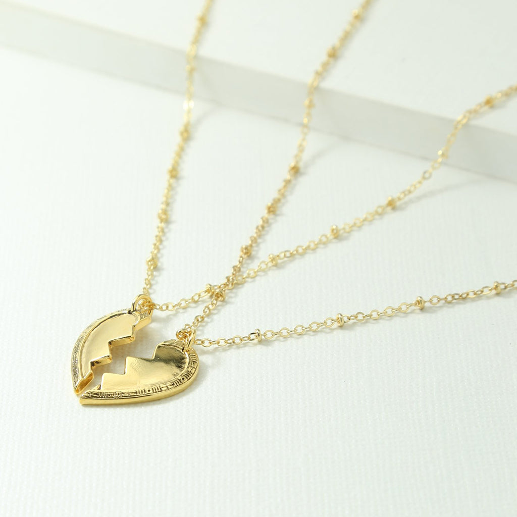 Lena Helena IN BROKEN HEART FRIENDSHIP NECKLACE SET - Gold