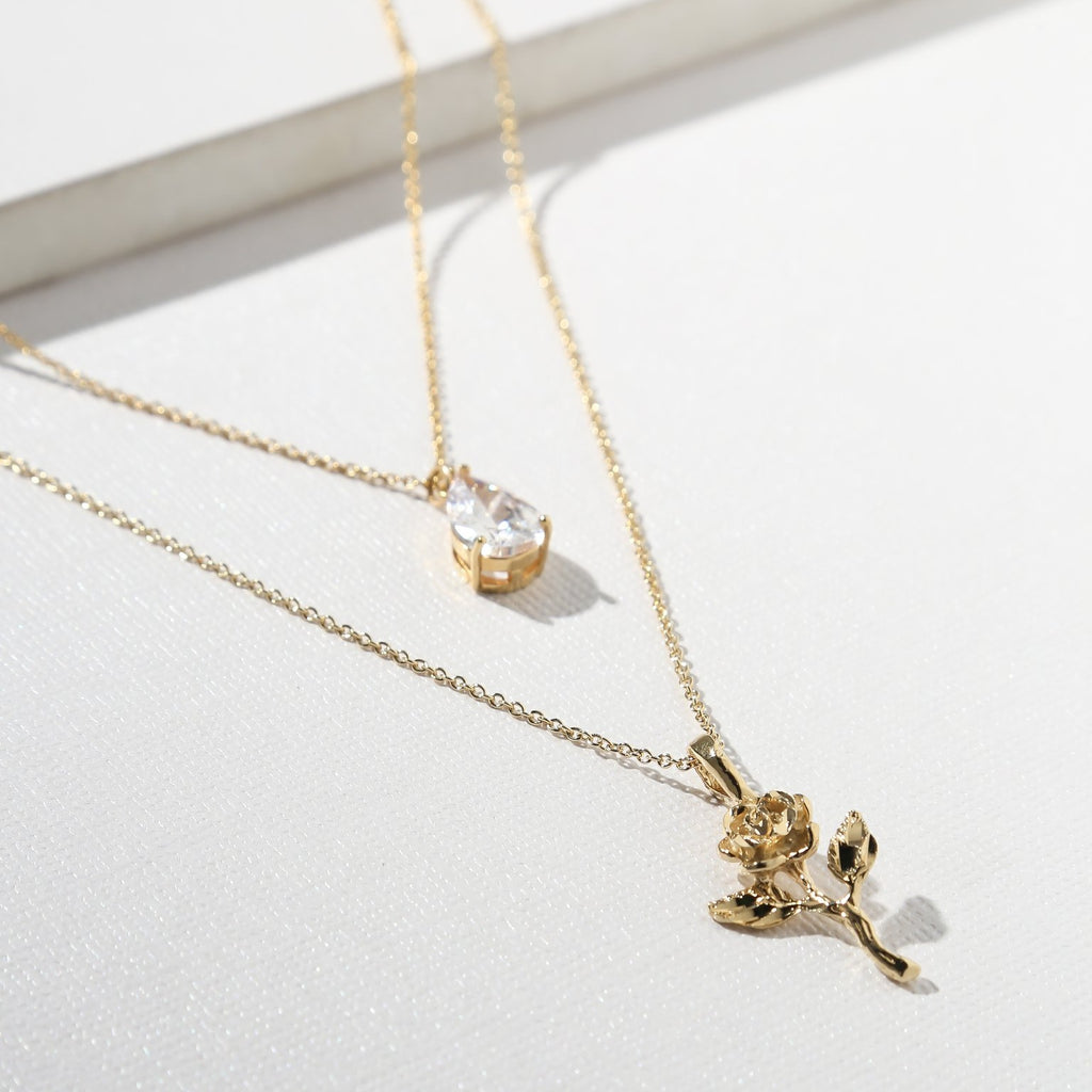 THE ROSE DIAMOND NECKLACE – GOLD