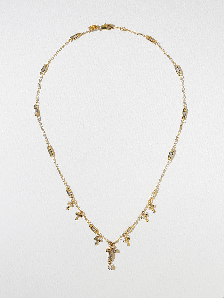 The Unchained Cross Necklace - GOLD