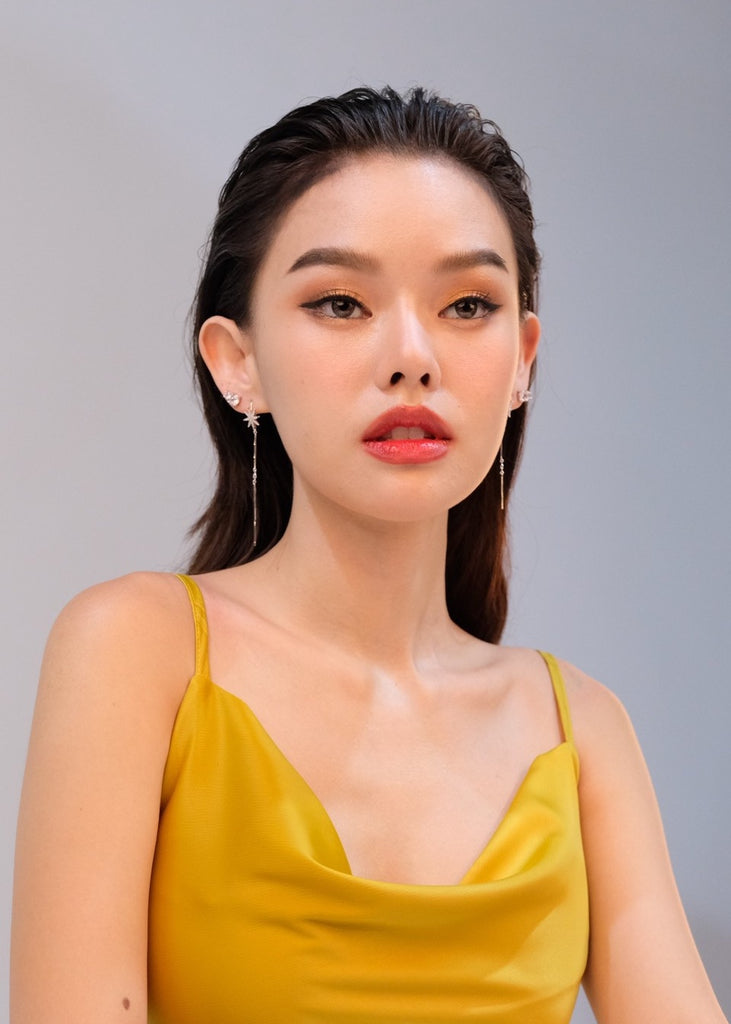 Ticha Wongtipkanon IN STARBURST Chain & Lucy Earrings - Silver