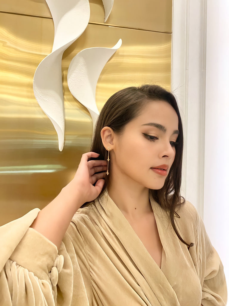 Urassaya Sperbund IN Aries Long Earrings - GOLD
