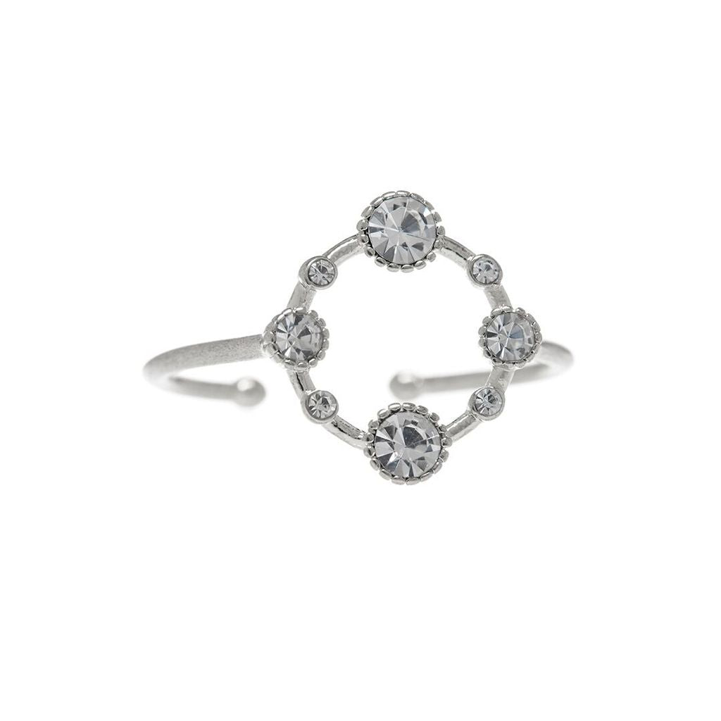 BEZEL DIAMOND RING – SILVER