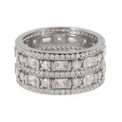 Antoinette Band Ring - Silver