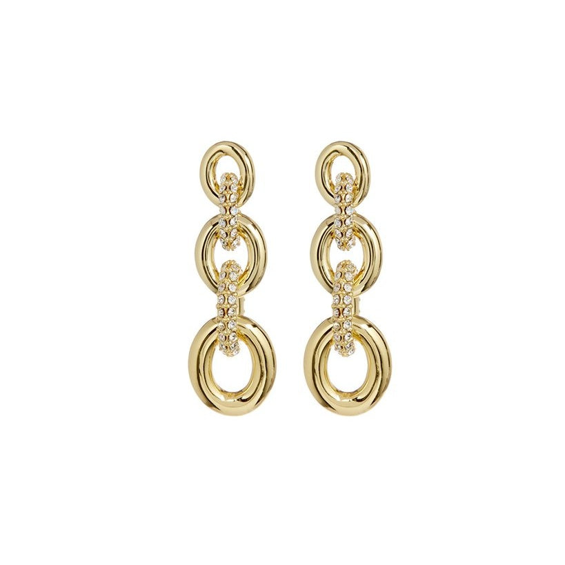 PAVE LOOP STUDS – GOLD
