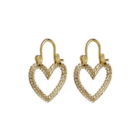 PAVE MINI HEARTBREAKER HOOPS – GOLD