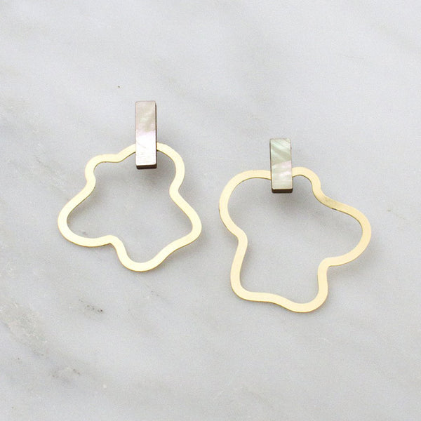 Aalto Earrings - Mother of Pearl