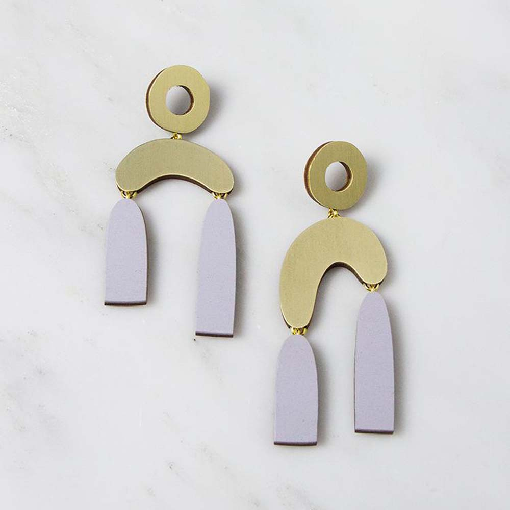 Balance Earrings - Lavender