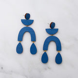 Corbero Earrings - Cobalt Blue