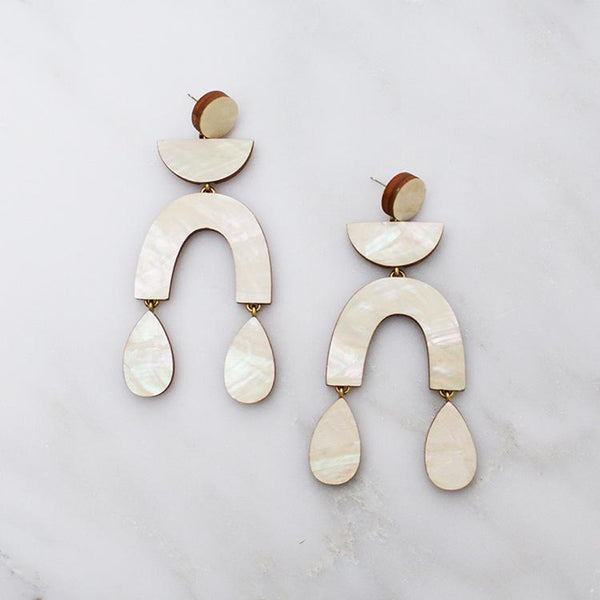 Corbero Earrings - Mother of Pearl