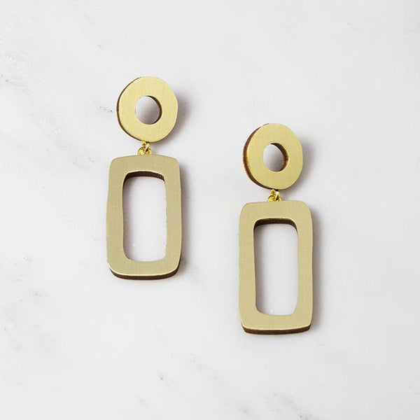 Ellseorth Drop Earrings - Brushed Brass