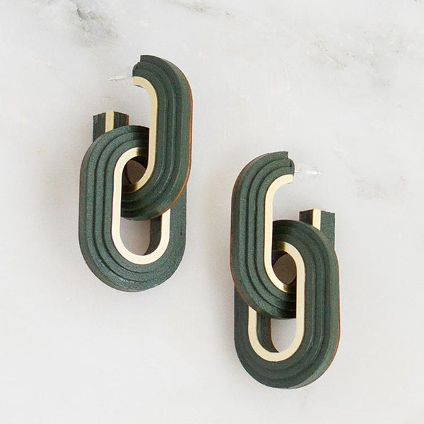 Mirage Hoop Earrings - Spruce Green