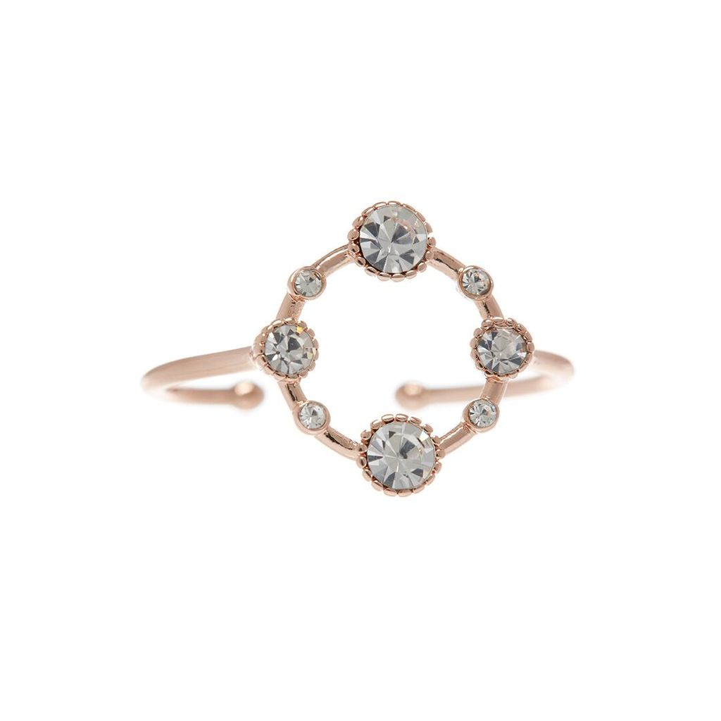 BEZEL DIAMOND RING – PINKGOLD