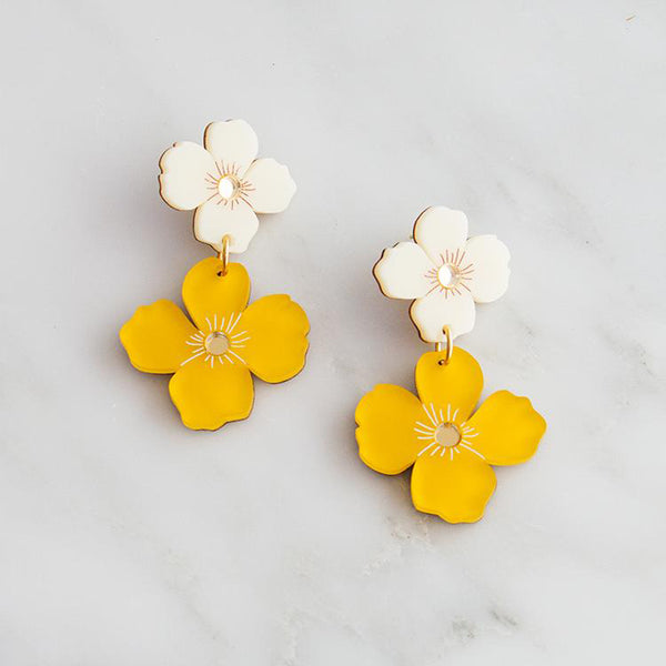 Poppy Earrings - Saffron